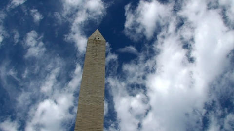 Washington Monument, time lapse Stock Video Footage