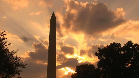 Washington Monument, time lapse Live Action