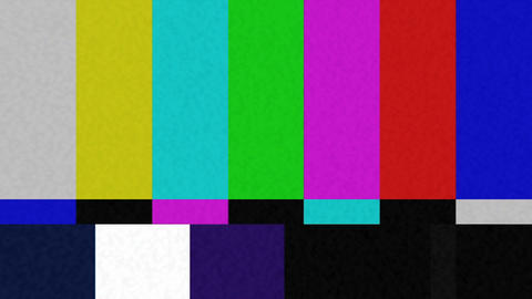 Color Bar Test Pattern Stock Video Footage