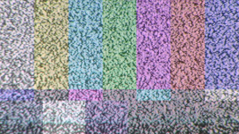 Color Bar Test Pattern Footage