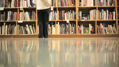 Book Shelves Stock Video Footage