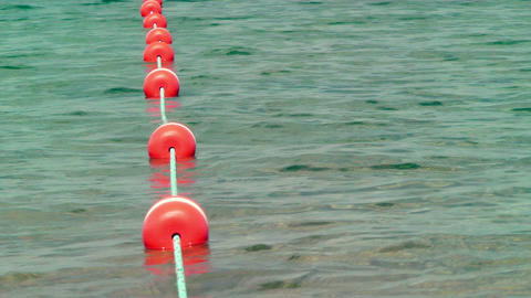 Swim Area Boundary stock footage