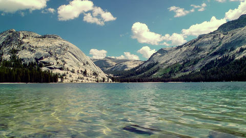 Tenaya Lake Time Lapse Stock Video Footage