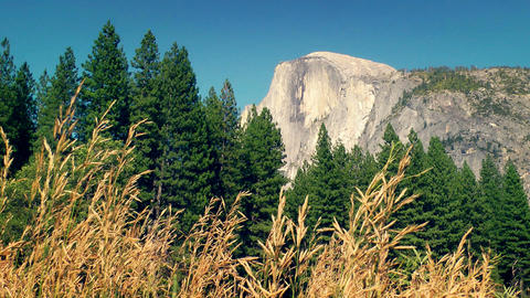 Half Dome Stock Video Footage