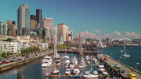 Seattle Waterfront Stock Video Footage