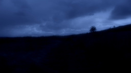 Night time Countryside Landscape Stock Video Footage