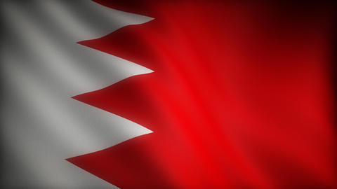 Flag of Bahrain Stock Video Footage