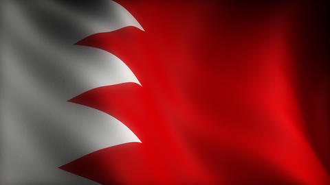 Flag Of Bahrain stock footage