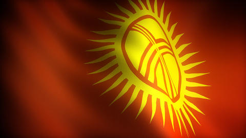 Flag of Kyrgyzstan Stock Video Footage
