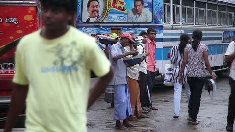Bus station in Tangalle Footage