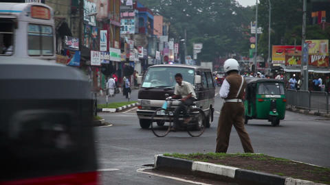 Policeman in Tangalle Stock Video Footage