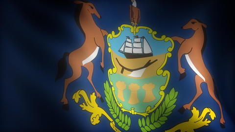 Flag of Pennsylvania Animation