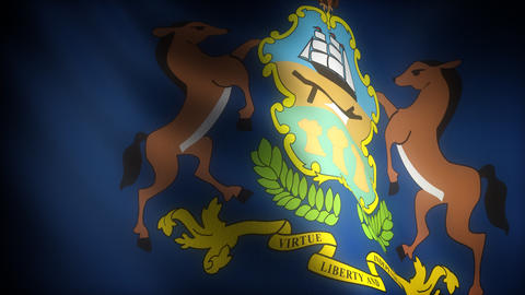 Flag of Pennsylvania Stock Video Footage