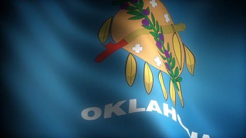 Flag of Oklahoma Stock Video Footage