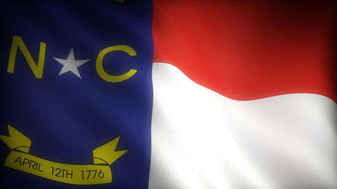 Flag of North Carolina Stock Video Footage