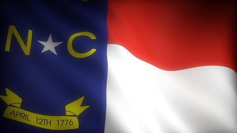 Flag of North Carolina Stock Video Footage
