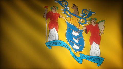 Flag of New Jersey Stock Video Footage