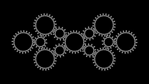 Gears 3 54 Stock Video Footage