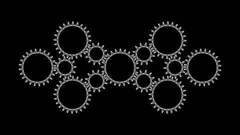Gears 3 54 Stock Video Footage