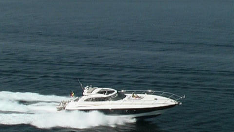Motoryacht At Sea stock footage
