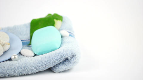 Soap Toiletries at Spa Stock Video Footage