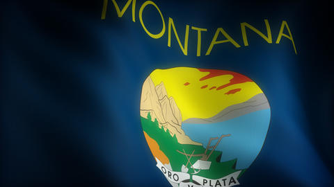 Flag of Montana Animation