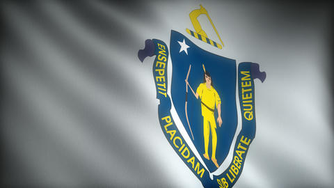 Flag of Massachusetts Stock Video Footage