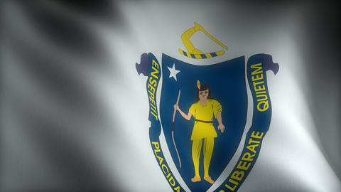 Flag of Massachusetts Animation