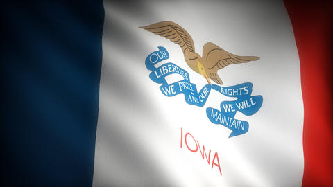 Flag of Iowa Stock Video Footage