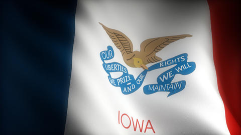 Flag of Iowa Animation