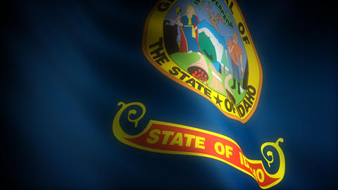 Flag of Idaho Stock Video Footage