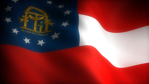 Flag of Georgia Stock Video Footage