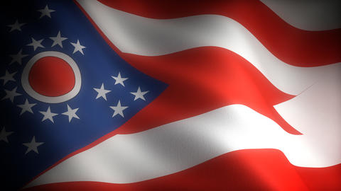 Flag of Ohio Stock Video Footage
