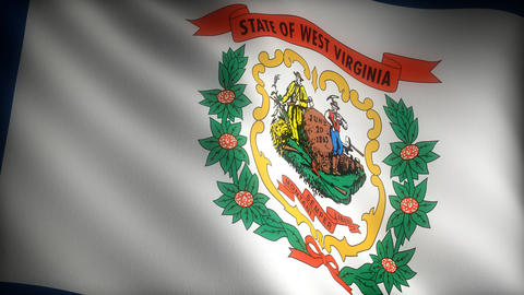 Flag of West Virginia Stock Video Footage