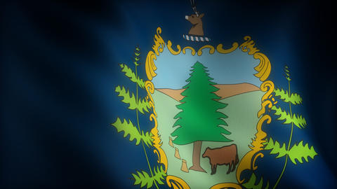 Flag of Vermont Animation