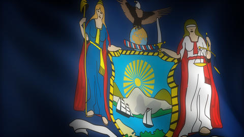 Flag of Newyork Animation