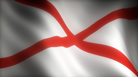 Flag of Alabama Stock Video Footage