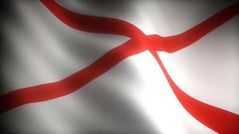 Flag of Alabama Stock Video Footage