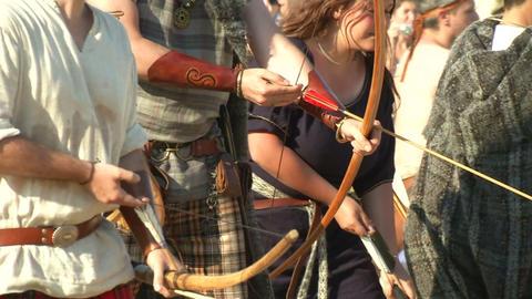 celt archer 01 Stock Video Footage