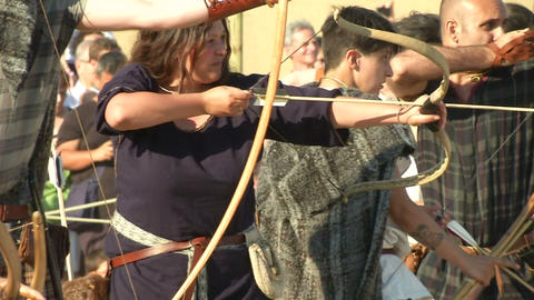 celt archer 03 Stock Video Footage