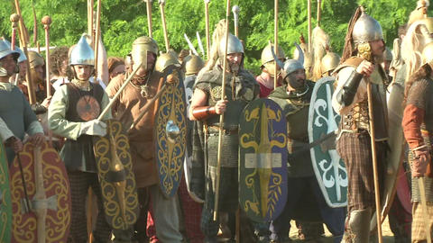 celt army 02 Stock Video Footage