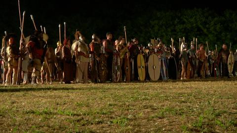 celt army night 01 Stock Video Footage