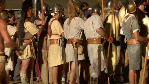 celt army night 05 Stock Video Footage