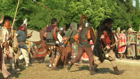 celt roman attack 12 Stock Video Footage
