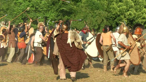 celt roman attack 12 Stock Video Footage