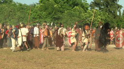 celt roman attack 14 Stock Video Footage