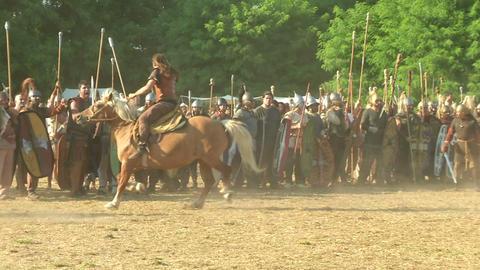celt roman attack 32 Stock Video Footage