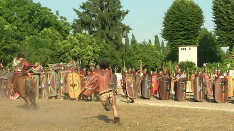 celt roman attack 34 Stock Video Footage