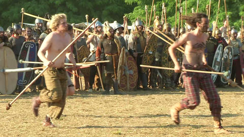 celt roman attack 41 Stock Video Footage