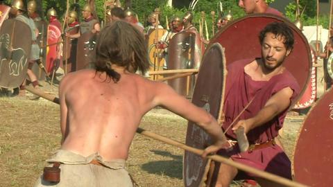 celt roman attack 43 Stock Video Footage